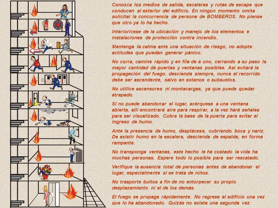 PROTECCIÓN HUMANA O EVACUACIÓN Sus funciones son: capacitar, adiestrar a las personas para que sepan actuar correctamente en caso de incendio, y señal
