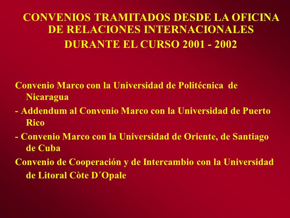 Convenio Marco con la Universidad de Politécnica de Nicaragua - Addendum al Convenio Marco con la Universidad de Puerto Rico - Convenio Marco con la U