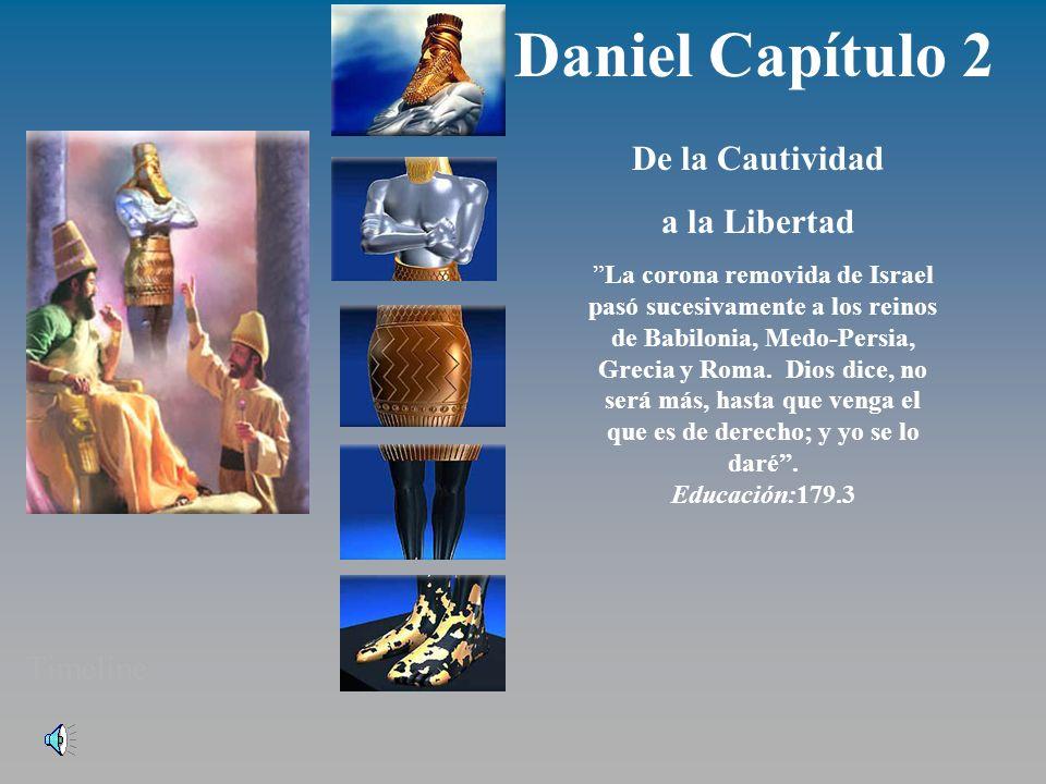 Daniel Capítulo 2 De la Cautividad a la Libertad La corona removida de Israel pasó sucesivamente a los reinos de Babilonia, Medo-Persia, Grecia y Roma.