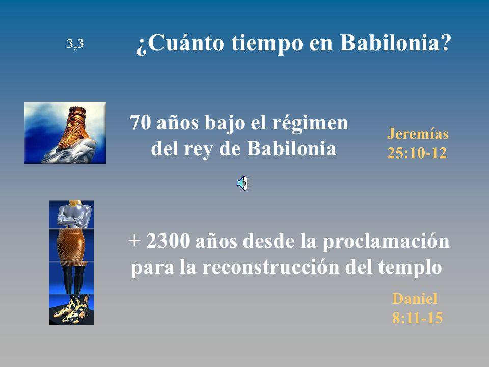 3,3 ¿Cuánto tiempo en Babilonia.