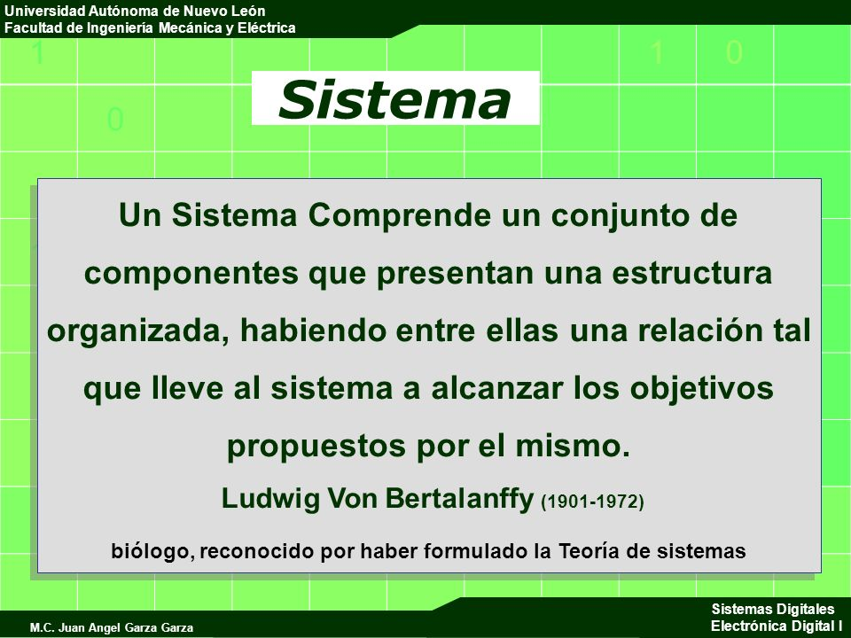 110 0 1 0 Universidad Autónoma de Nuevo León Facultad de Ingeniería Mecánica y Eléctrica Sistemas Digitales Electrónica Digital I M.C.