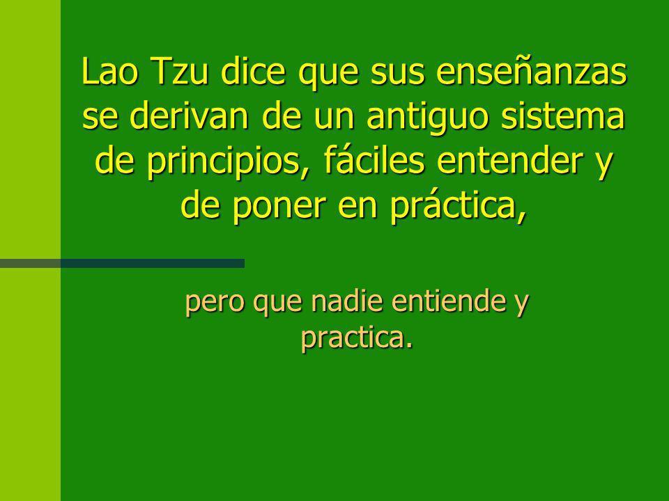 Contenido filosófico del Tao Te Ching: n TAO n Yin y Yang y el principio de inversión n No-hacer (wu-wei) n El Maestro del TAO (el héroe Taoista) n Bu