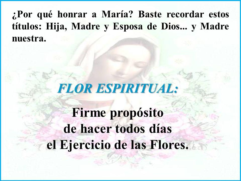 ¿Por qué honrar a María.Baste recordar estos títulos: Hija, Madre y Esposa de Dios...