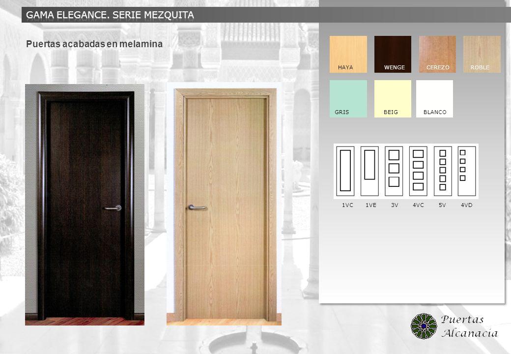 Puertas acabadas en melamina HAYA WENGE CEREZO ROBLE GRIS BEIG BLANCO 1VC 1VE 3V 4VC 5V 4VD