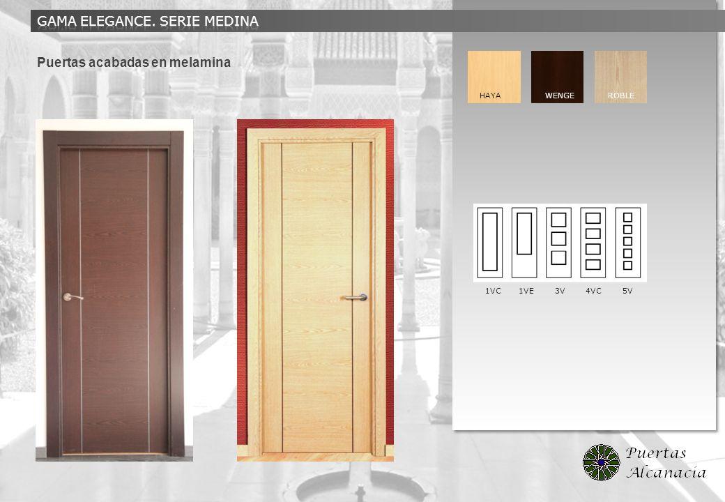 Puertas acabadas en melamina HAYA WENGE ROBLE 1VC 1VE 3V 4VC 5V