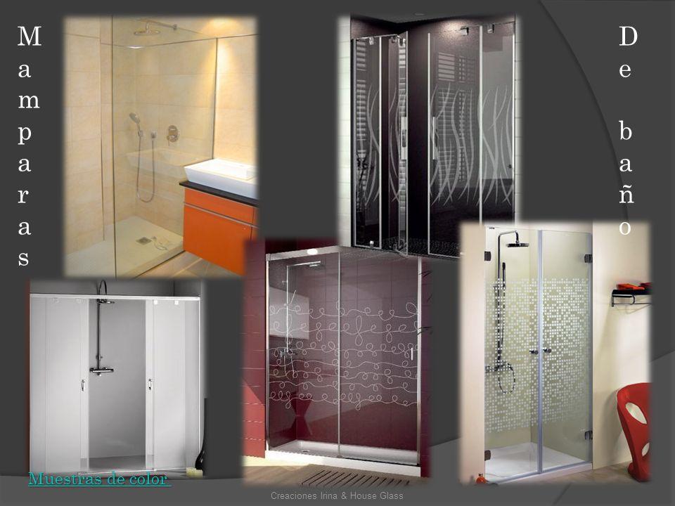 MamparasMamparas De baño De baño Creaciones Irina & House Glass Muestras de color Muestras de color