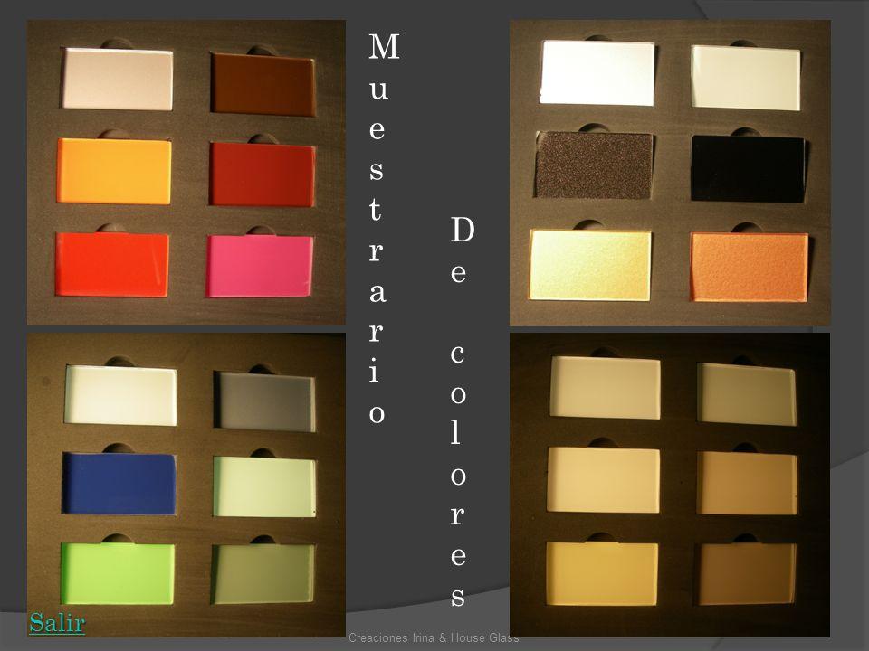 Creaciones Irina & House Glass MuestrarioMuestrario De coloresDe colores Salir