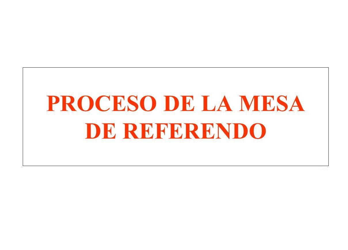 PROCESO DE LA MESA DE REFERENDO