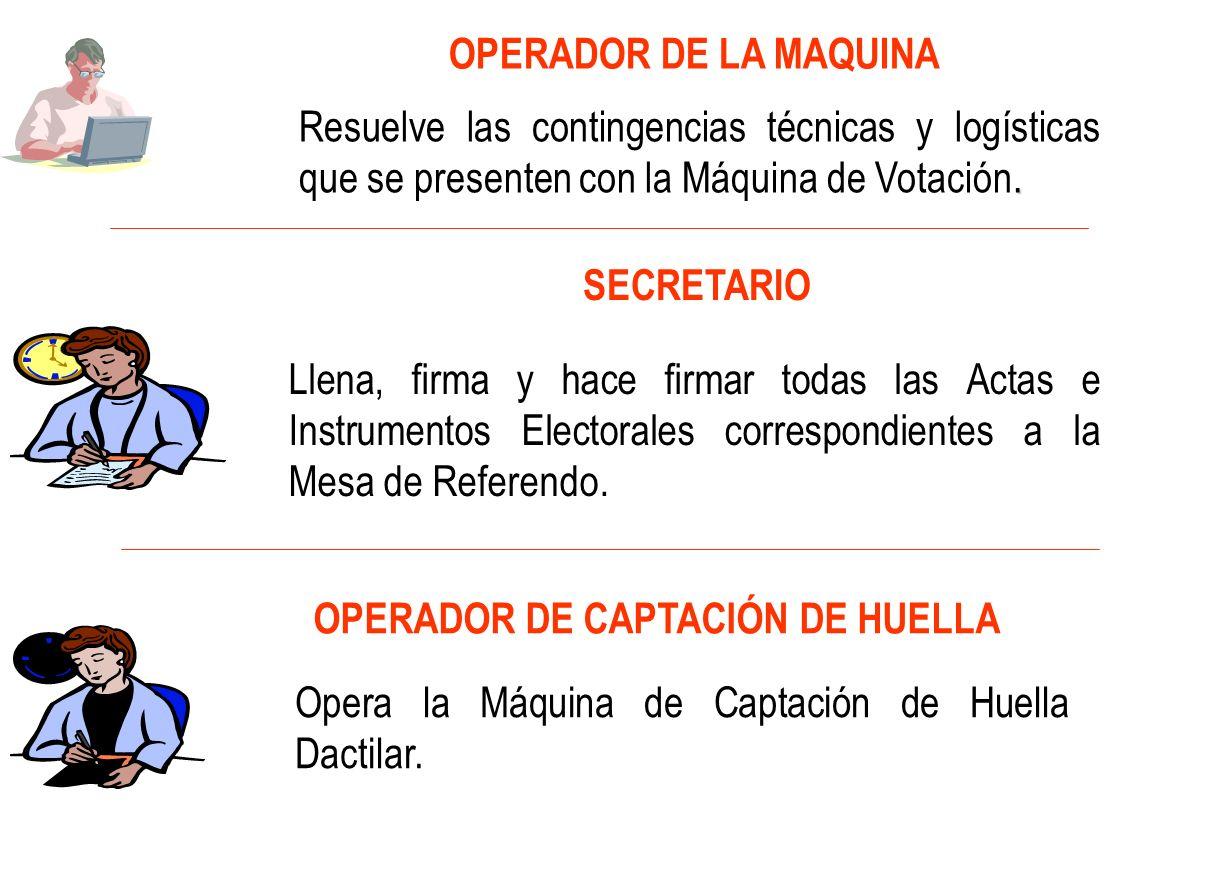 OPERADOR DE LA MAQUINA.