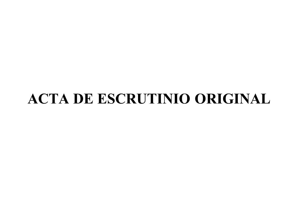 ACTA DE ESCRUTINIO ORIGINAL