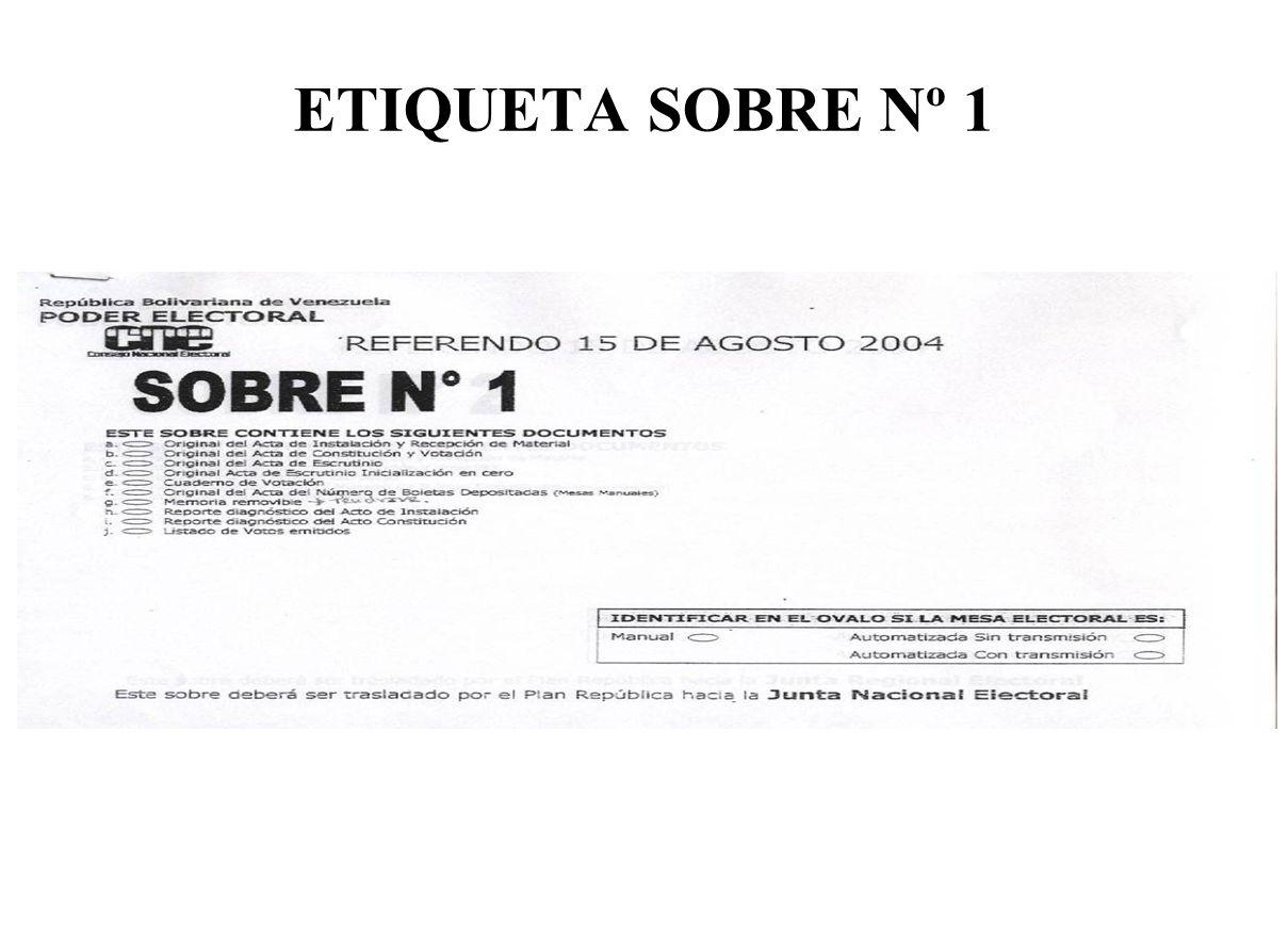 ETIQUETA SOBRE Nº 1