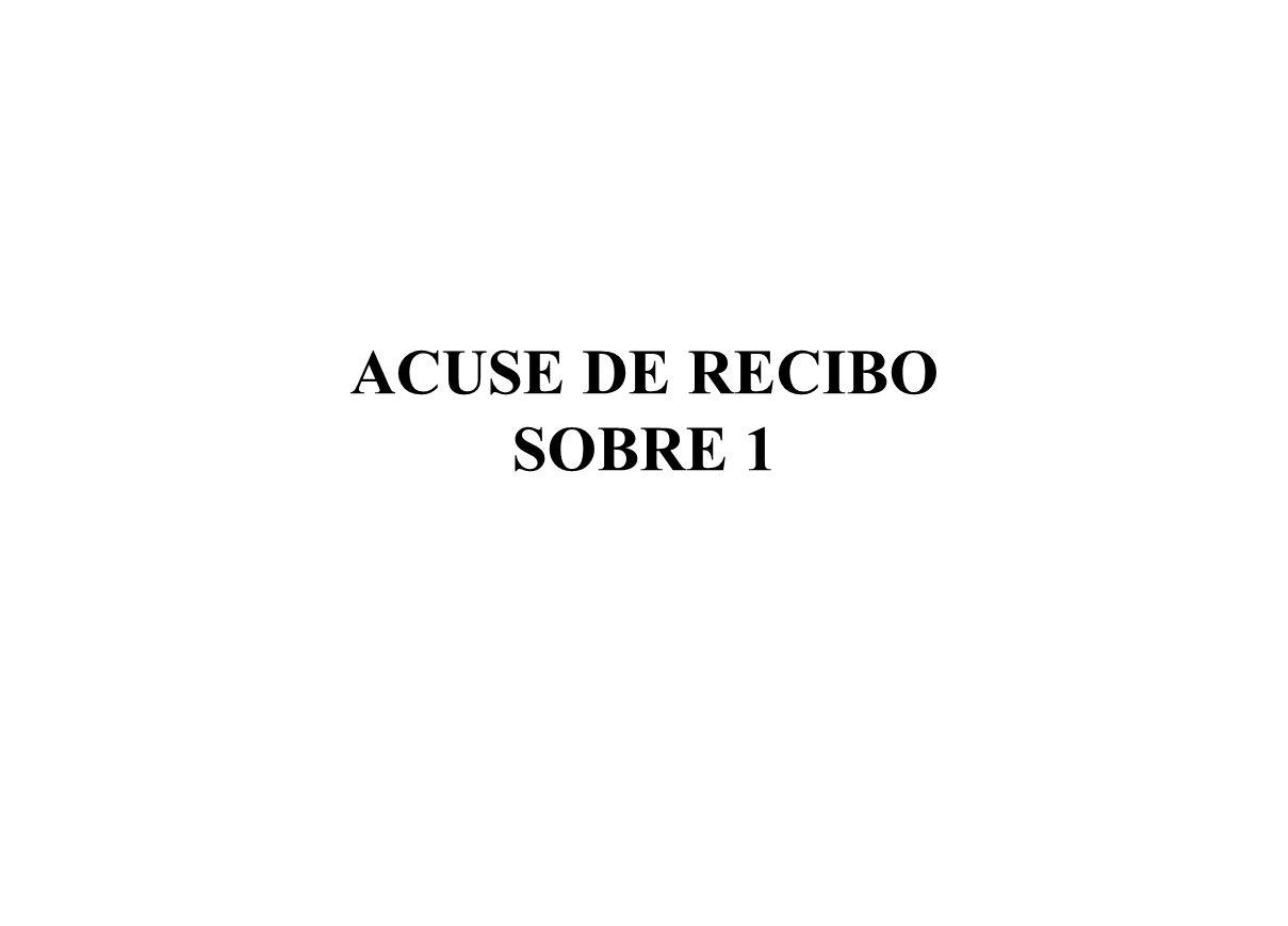 ACUSE DE RECIBO SOBRE 1