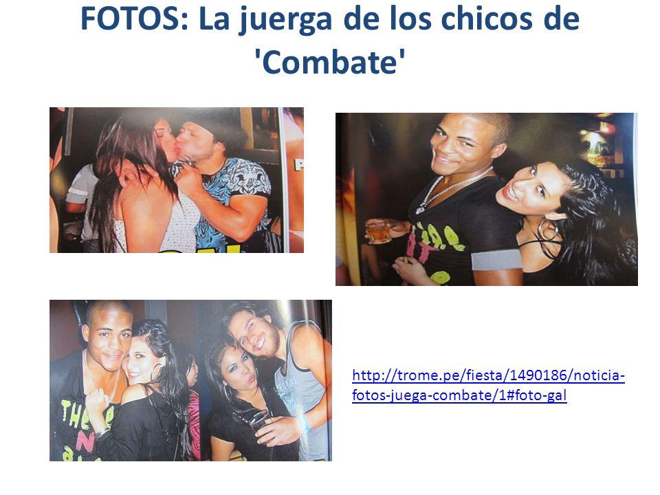 FOTOS: La juerga de los chicos de 'Combate' http://trome.pe/fiesta/1490186/noticia- fotos-juega-combate/1#foto-gal
