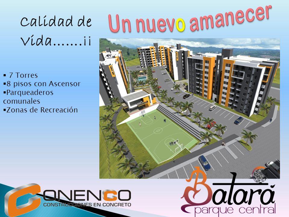 Calidad de Vida…….¡¡ 7 Torres 8 pisos con Ascensor Parqueaderos comunales Zonas de Recreación