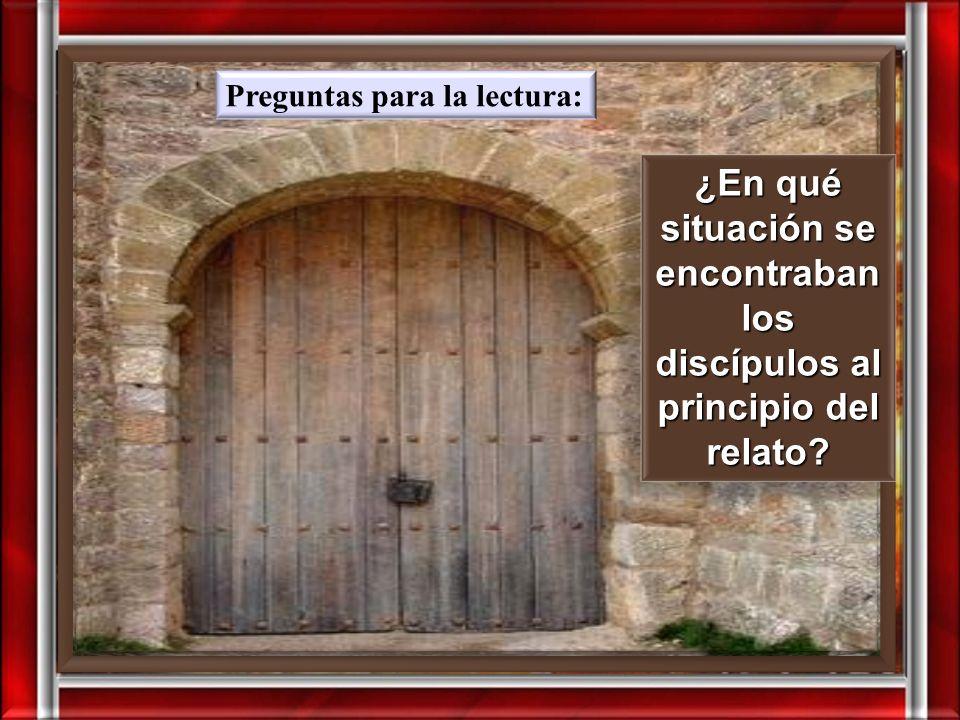 Juan 20, 19-31 19 Aquel mismo domingo, por la tarde, estaban reunidos los discípulos en una casa con las puertas bien cerradas, por miedo a los judíos