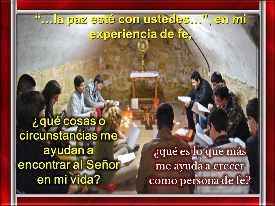 II. MEDITATIO ¿Qué me dice? ¿Qué nos dice el Texto? Juan escribía pensando en muchos cristianos que, como Tomás, vacilaban en su fe y necesitaban ser