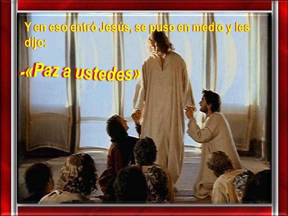 …la paz esté con ustedes…, en mi experiencia de fe,
