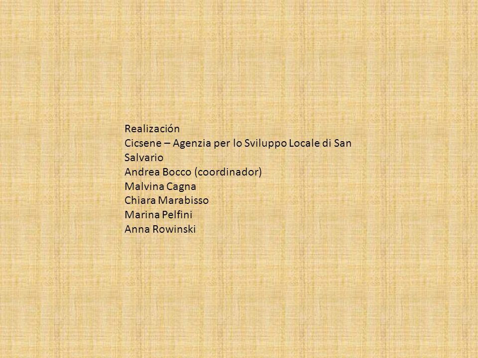 Realización Cicsene – Agenzia per lo Sviluppo Locale di San Salvario Andrea Bocco (coordinador) Malvina Cagna Chiara Marabisso Marina Pelfini Anna Row