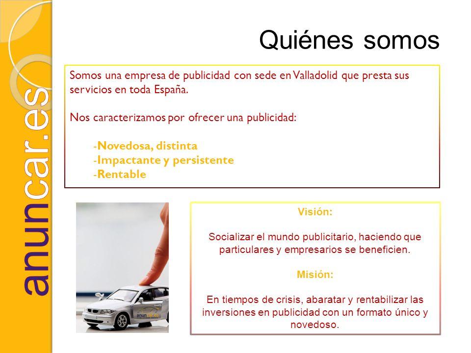 Somos una empresa de publicidad con sede en Valladolid que presta sus servicios en toda España. Nos caracterizamos por ofrecer una publicidad: -Novedo