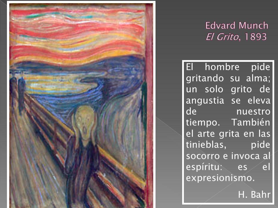 Pintura El Grito de E. Munch Die Brücke Cine El Gabinete del Dr. Caligari Nosferatu Literatura August Strindberg Hermann Bahr