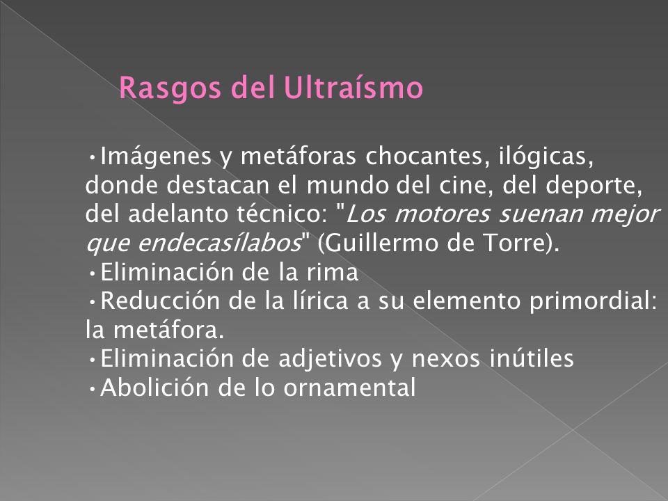 El Ultraísmo es un movimiento vanguardista netamente español. Su proceso evolutivo lo podemos situar entre 1918 y 1923. Conectado con las tendencias v