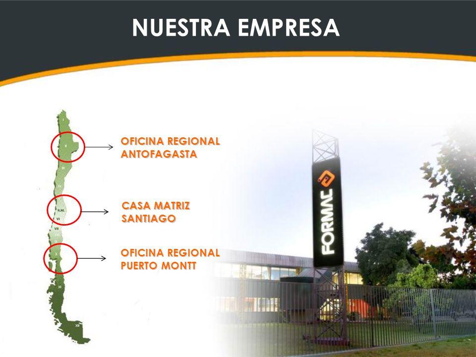 NUESTRA EMPRESA OFICINA REGIONAL ANTOFAGASTA CASA MATRIZ SANTIAGO OFICINA REGIONAL PUERTO MONTT