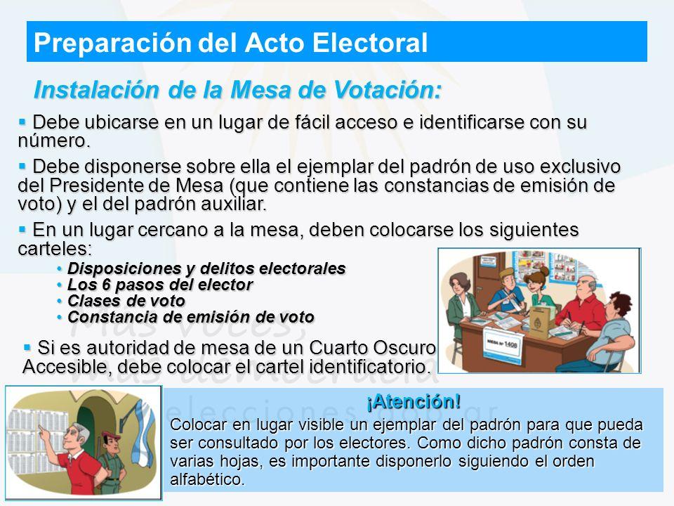 Disposiciones y delitos electorales Disposiciones y delitos electorales Los 6 pasos del elector Los 6 pasos del elector Clases de voto Clases de voto
