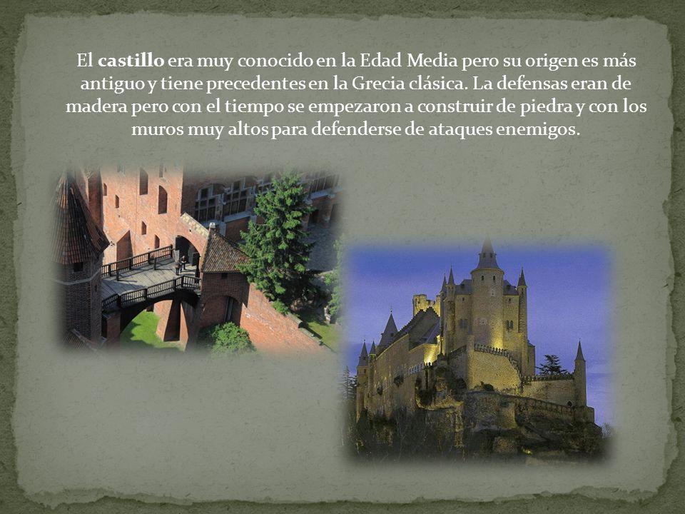 El castillo era muy conocido en la Edad Media pero su origen es más antiguo y tiene precedentes en la Grecia clásica. La defensas eran de madera pero