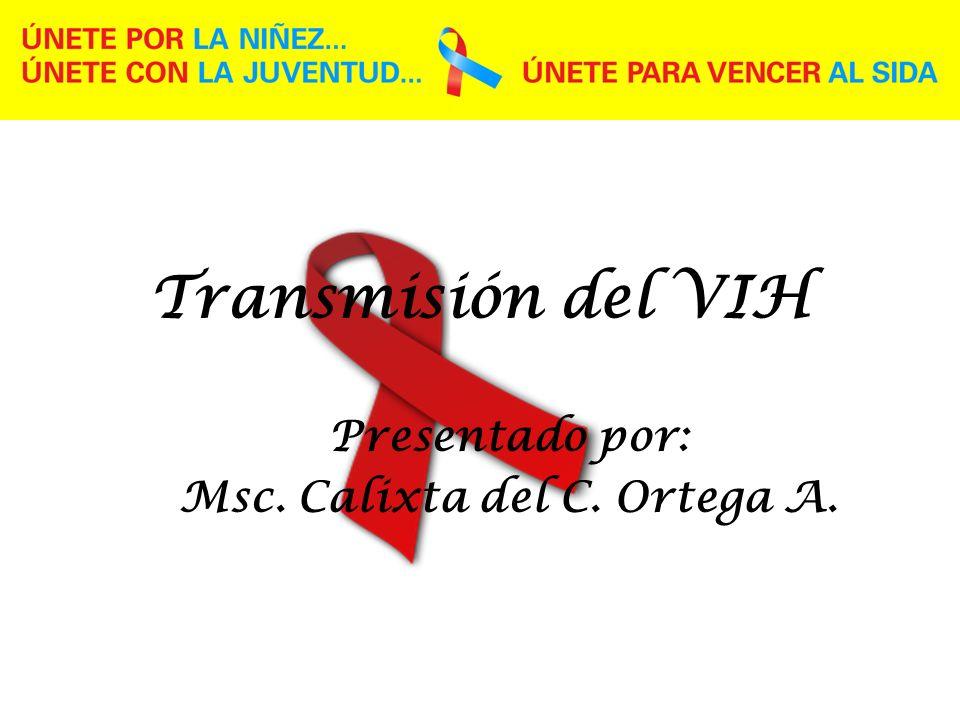 Transmisión del VIH Presentado por: Msc. Calixta del C. Ortega A.