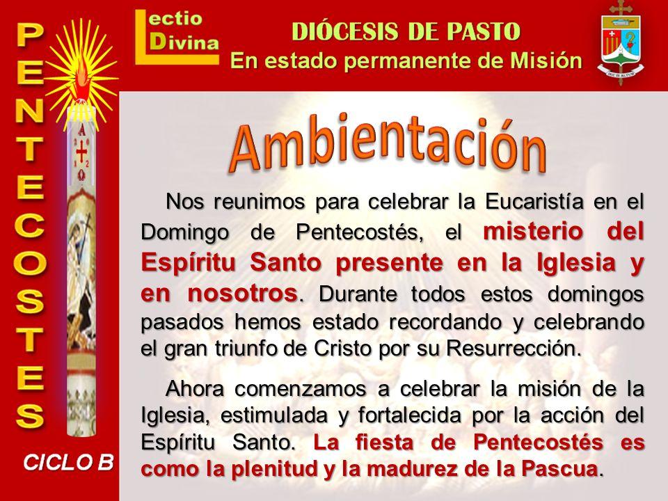 El Cirio Pascual, símbolo de la presencia de Jesús entre nosotros por su resurrección, queda apagado hoy para dar paso a la acción de la Iglesia por la fuerza del Espíritu.