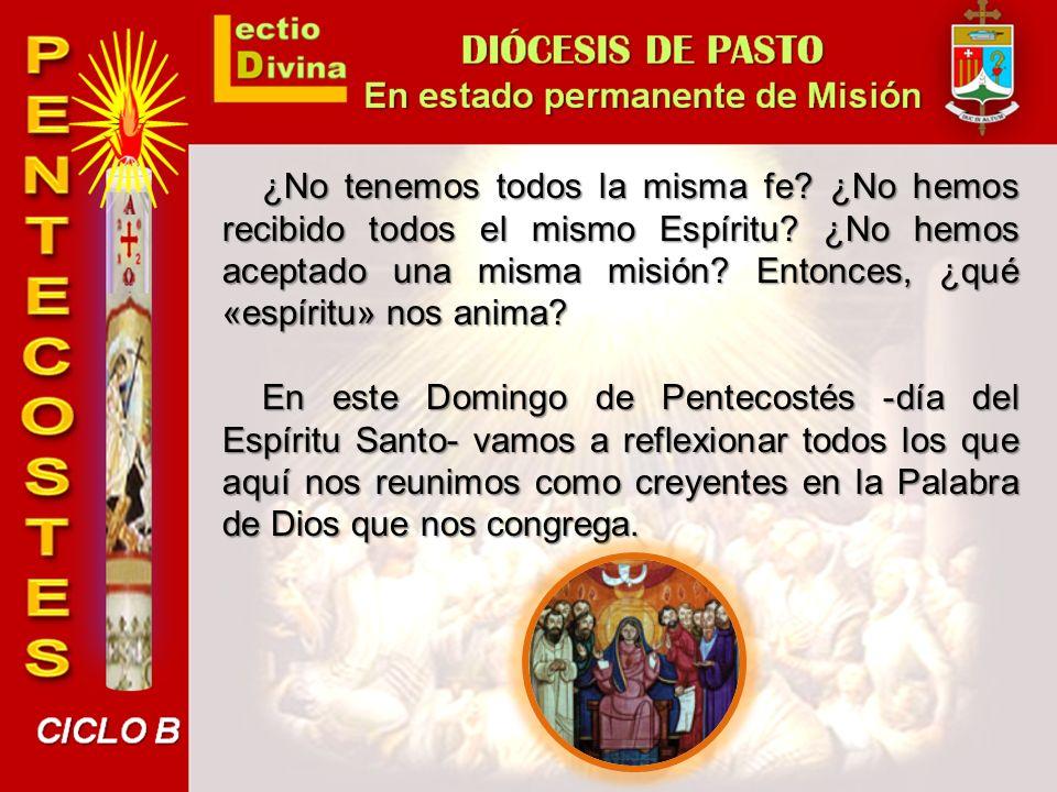 Unidad en la diversidad El relato de los Hechos de los Apóstoles sobre la venida del Espíritu Santo nos da muchas indicaciones para entender mejor el papel del Espíritu en la Iglesia y en la sociedad.