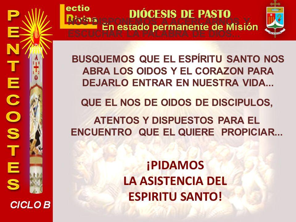 Nacimiento de la Iglesia: antes eran «grupo» pero no verdadera «comunidad», y se dispersaron a partir del hecho de la muerte de Jesús: unos se quedaron en Jerusalén, pero encerrados (Jn.
