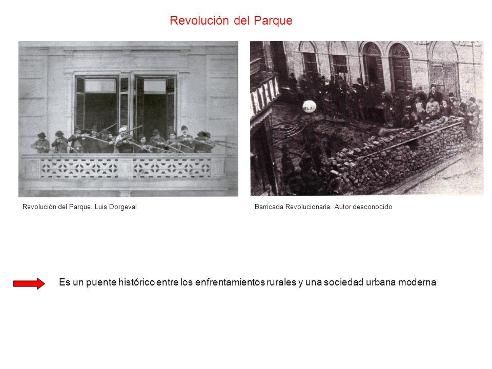 Revolución del Parque Revolución del Parque. Luis DorgevalBarricada Revolucionaria. Autor desconocido Es un puente histórico entre los enfrentamientos