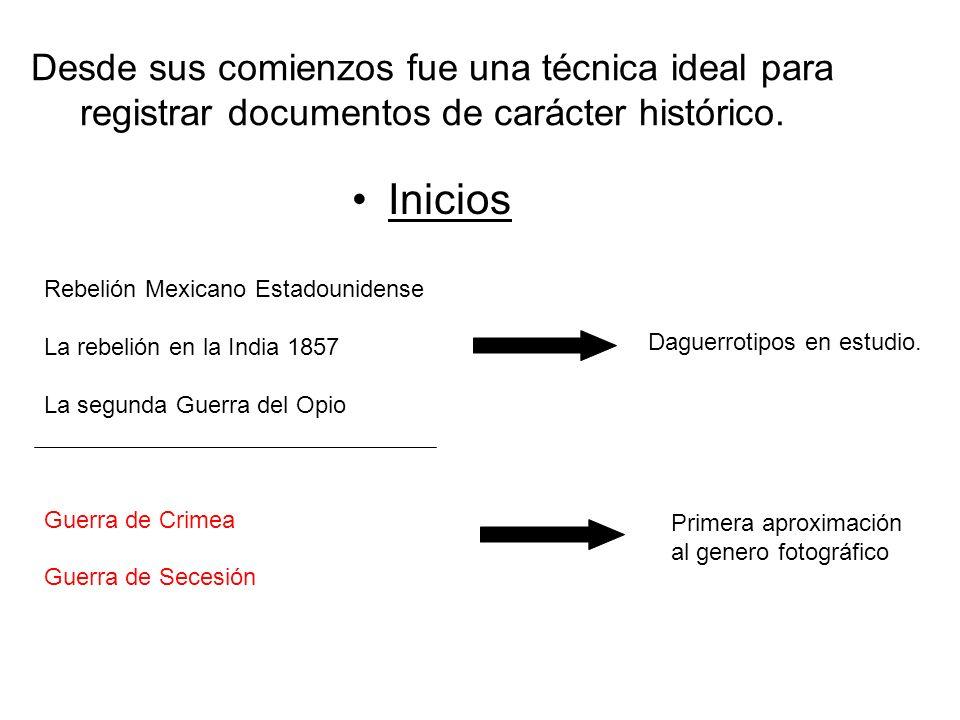 Desde sus comienzos fue una técnica ideal para registrar documentos de carácter histórico. Inicios Rebelión Mexicano Estadounidense La rebelión en la