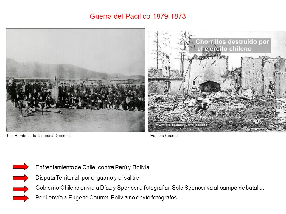 Guerra del Pacifico 1879-1873 Los Hombres de Tarapacá. Spencer Enfrentamiento de Chile, contra Perú y Bolivia Disputa Territorial, por el guano y el s