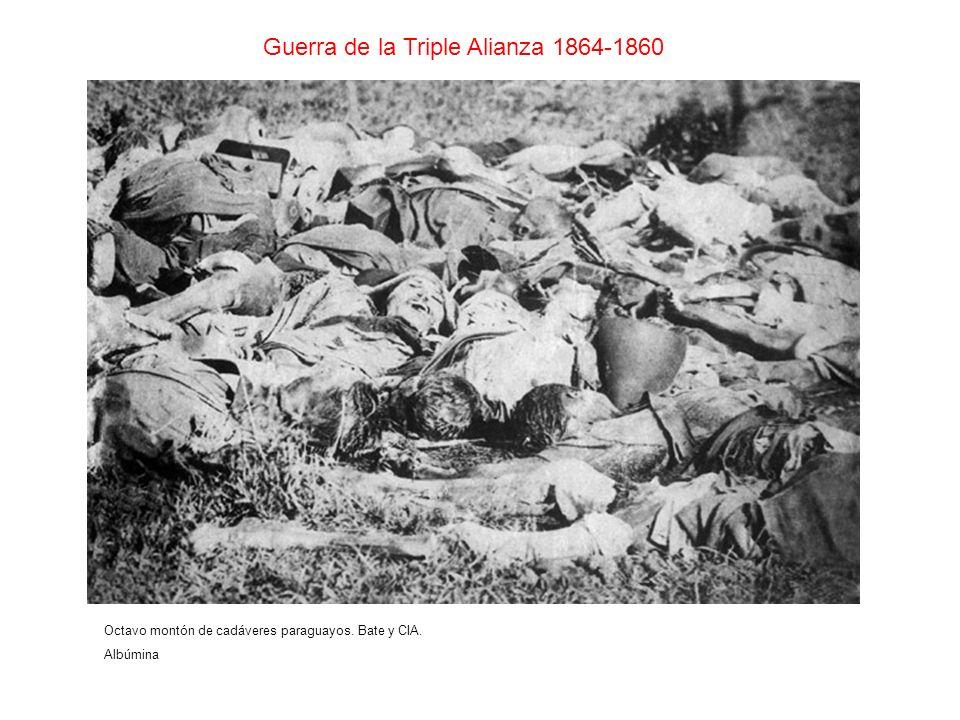 Guerra de la Triple Alianza 1864-1860 Octavo montón de cadáveres paraguayos. Bate y CIA. Albúmina