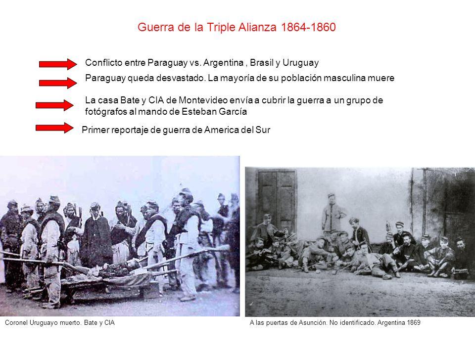 Guerra de la Triple Alianza 1864-1860 Conflicto entre Paraguay vs. Argentina, Brasil y Uruguay Paraguay queda desvastado. La mayoría de su población m