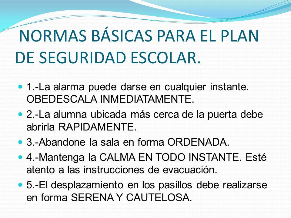 6.-La evacuación debe realizarse CAMINANDO CON PASO RAPIDO Y FIRME, sin correr.