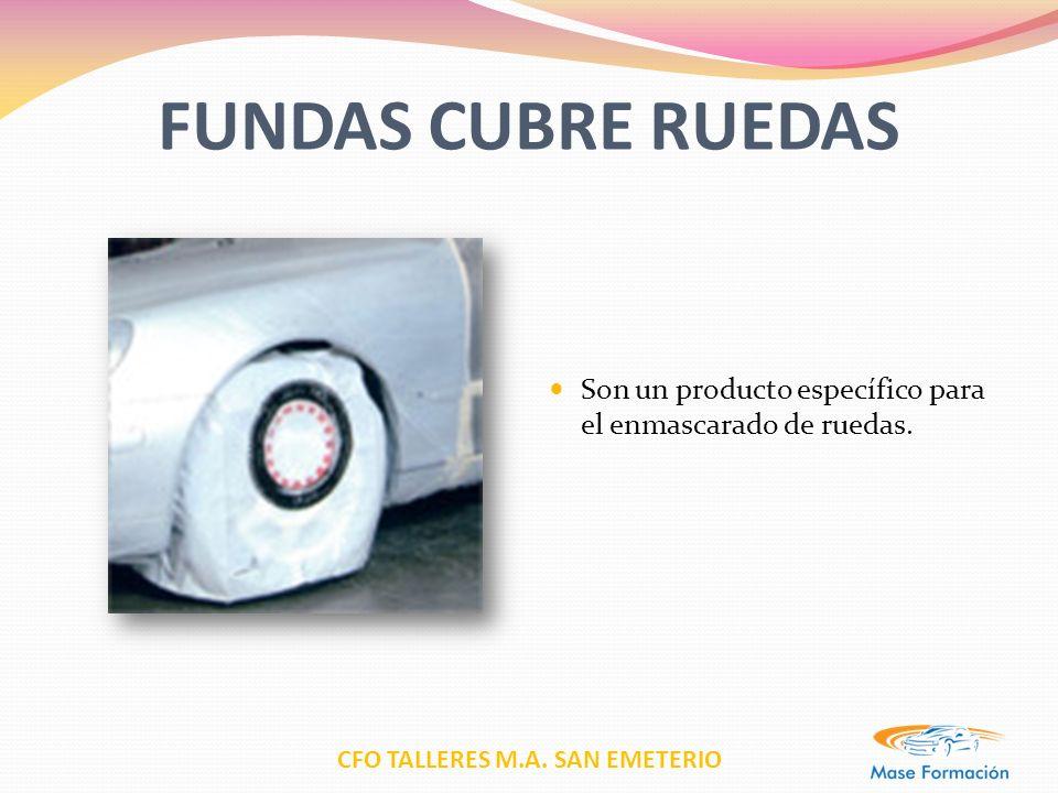 CFO TALLERES M.A. SAN EMETERIO FUNDAS CUBRE RUEDAS Son un producto específico para el enmascarado de ruedas.