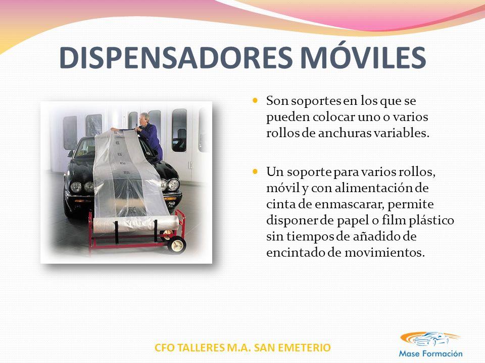 CFO TALLERES M.A. SAN EMETERIO DISPENSADORES MÓVILES Son soportes en los que se pueden colocar uno o varios rollos de anchuras variables. Un soporte p