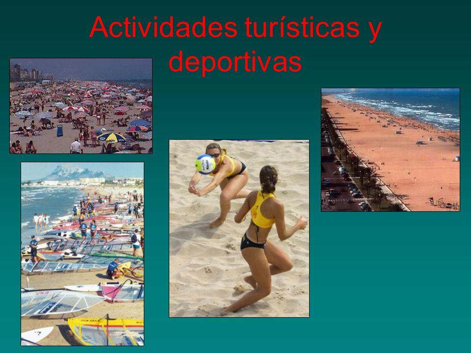 Actividades turísticas y deportivas