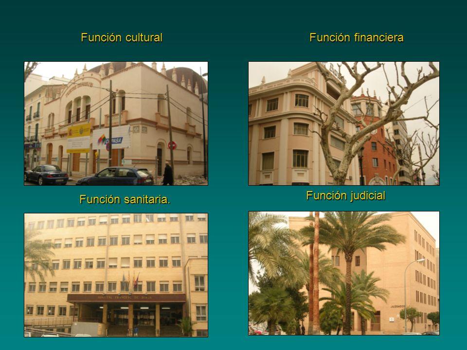 Función financiera Función cultural Función sanitaria. Función judicial