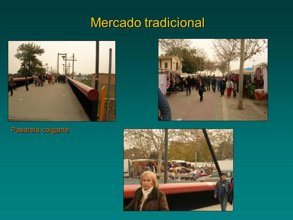 Mercado tradicional Pasarela colgante