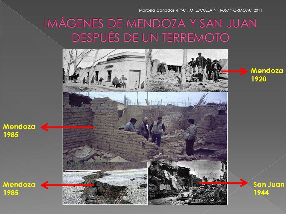 Mendoza 1985 San Juan 1944 Mendoza 1985 Mendoza 1920
