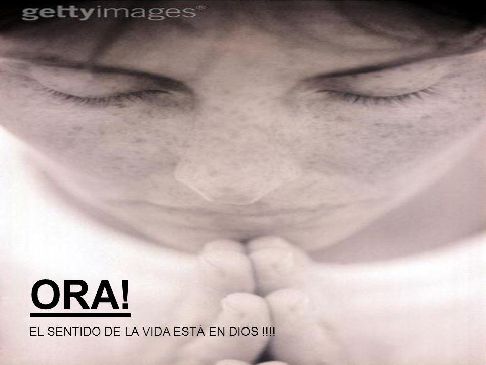 ORA! EL SENTIDO DE LA VIDA ESTÁ EN DIOS !!!!