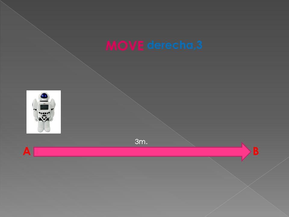 3m. A MOVE derecha,3 B