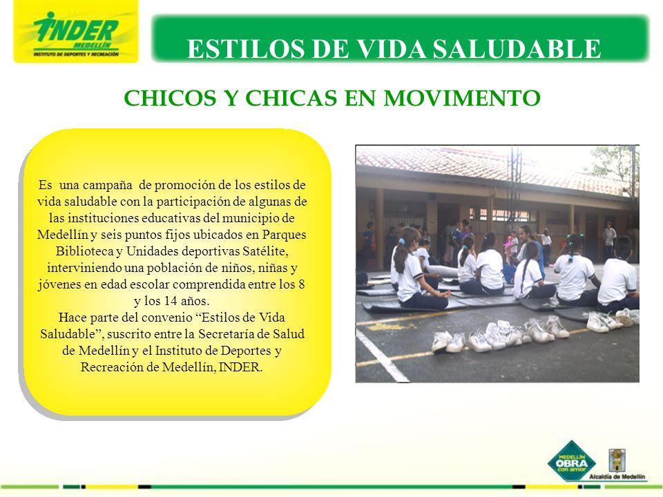 CHICOS Y CHICAS EN MOVIMENTO ESTILOS DE VIDA SALUDABLE Es una campaña de promoción de los estilos de vida saludable con la participación de algunas de