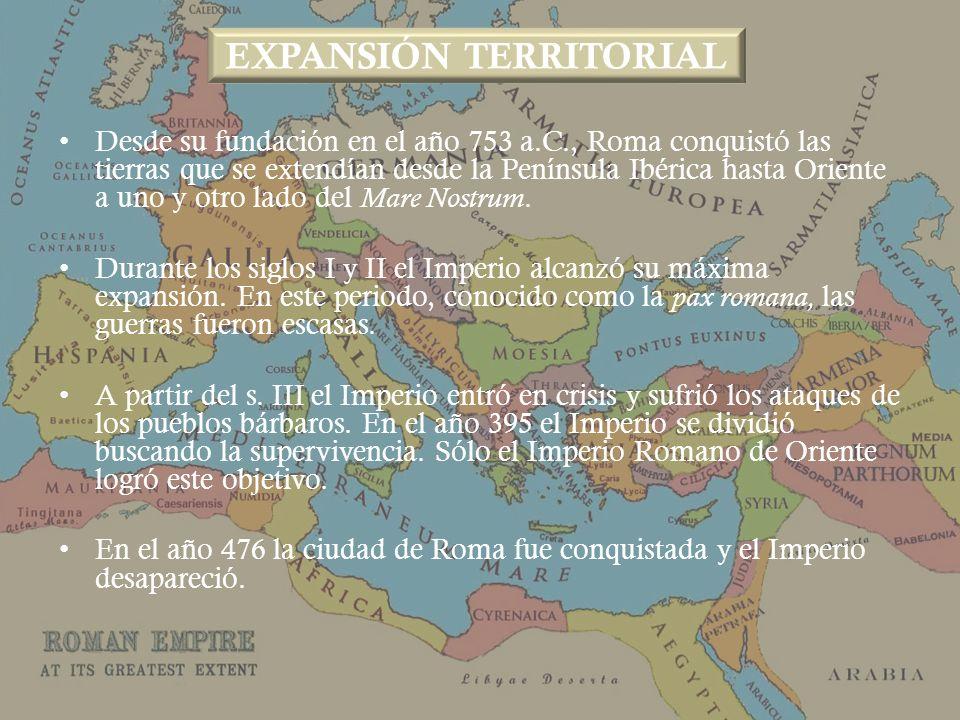 Desde su fundación en el año 753 a.C., Roma conquistó las tierras que se extendían desde la Península Ibérica hasta Oriente a uno y otro lado del Mare Nostrum.