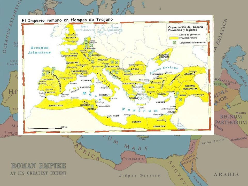 El imperio romano basó gran parte de su poder en tres grandes ideas: un ejército poderoso y organizado, el comercio y la extensión de su cultura en un sentido amplio (romanización).