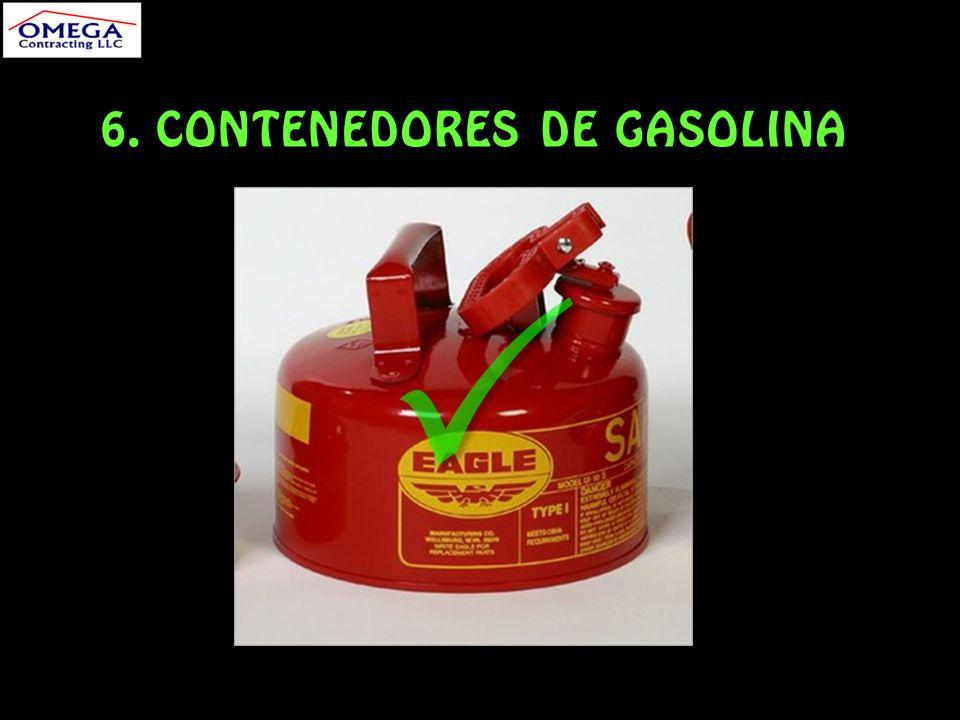 6. CONTENEDORES DE GASOLINA